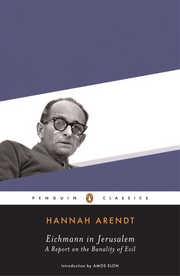 Cover of Hannah Arendt: Eichmann In Jerusalem