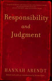 Cover of Hannah Arendt, Jerome Kohn (EDT): Responsibility And Judgment