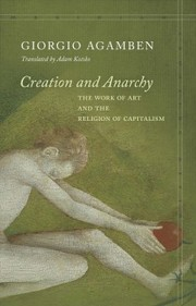 Cover of Giorgio Agamben: Creation and Anarchy