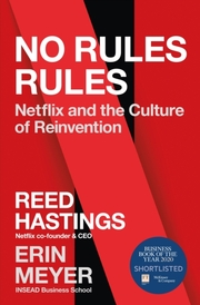 Cover of Reed Hastings, Erin Meyer: No Rules Rules