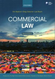 Cover of Eric Baskind (Senior Lecturer in Law, Liverpool John Moores University), Greg Osborne (Senior Lecturer in Law, University of Portsmouth), Lee Roach (Senior Lecturer in Law, University of Portsmouth): Commercial Law