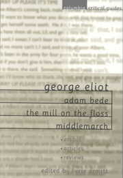 Cover of Lucie Armitt (EDT): George Eliot Adam Bede, the Mill on the Floss, Middlemarch