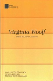 Cover of James Acheson (EDT): Virginia Woolf