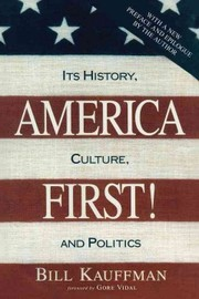 Cover of Bill Kauffman, Gore Vidal (FRW): America First!