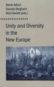 Cover of Unity and Diversity in the New Europe