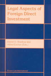 Cover of Daniel D. Bradlow, Alfred Escher: Legal Aspects of Foreign Direct Investment