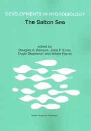 Cover of Douglas A. Barnum (EDT), John F. Elder (EDT), Doyle Stephens (EDT), Milton Friend (EDT): The Salton Sea